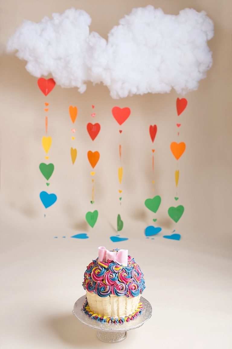 Cake Smash Bath Bristol Somerset Smash and Spash Session Rainbow cake smash phtoo session