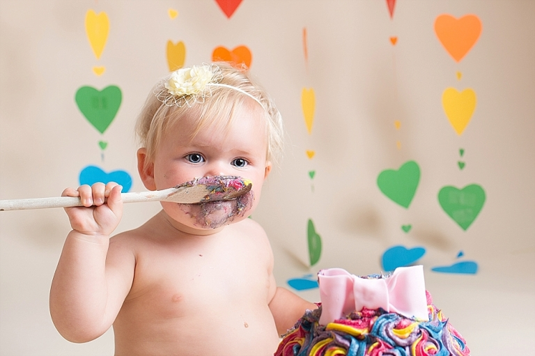 Cake Smash Bath Bristol Somerset Smash and Spash Session Rainbow Baby cake smash